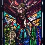 Chiesa parrocchiale S PIO X _ Vetrata Resurrezione di Aligi SASSU