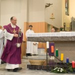 Chiesa parrocchiale S PIO X _Mons. Burlon Inaugurazione 2012 dopo rifacimento